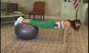 Basic Stability Ball Push-up and Plank